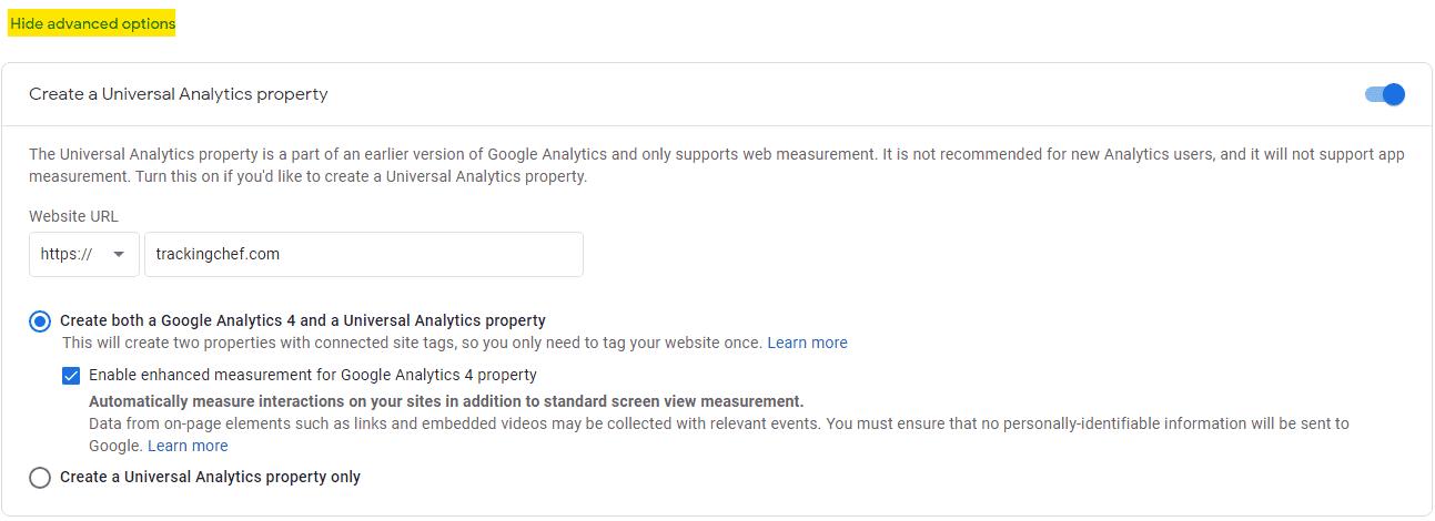 Legacy (Universal) GA Property