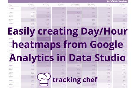 Easily creating Day/Hour heatmaps from Google Analytics in Data Studio